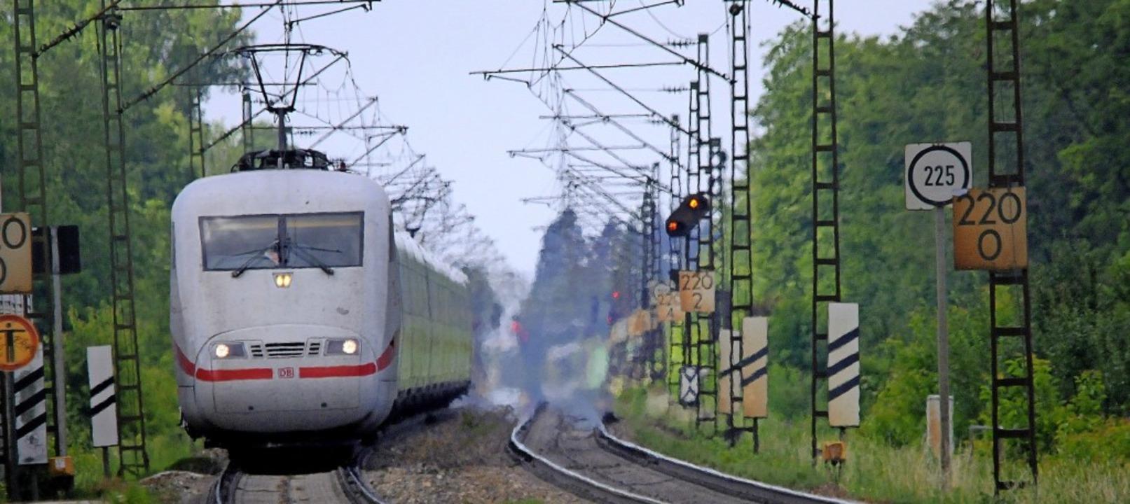 Der Ausbau der Rheintalbahn bei Kenzin...erst 2042 komplett abgeschlossen sein.  | Foto: Siegfried Gollrad
