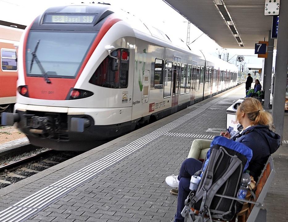 Das Land unterstützt eine Bahnanbindun...scher Bahnhof)  und  dem Euroairport.   | Foto: Daniel Gramespacher