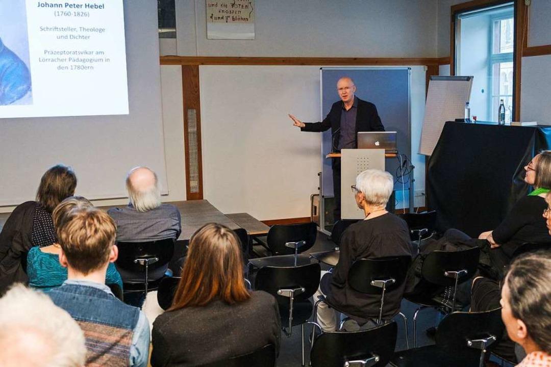 Joseph Croitoru während seines Vortrags  | Foto: Ansgar Taschinski