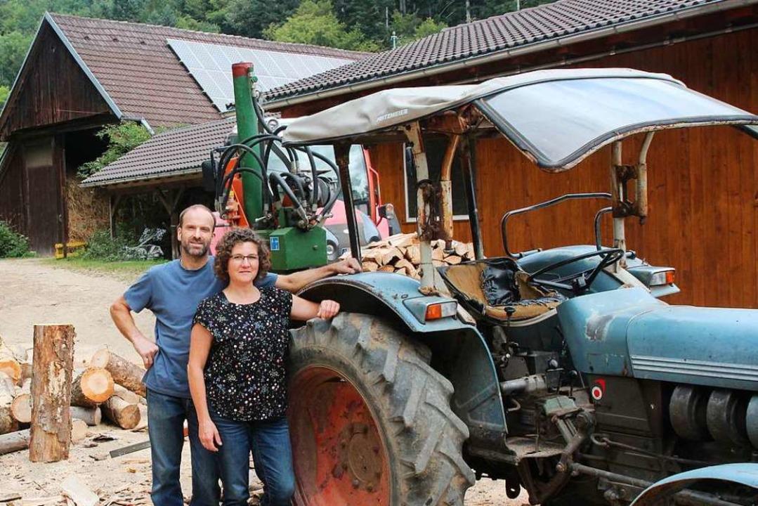 Willi Raufer mit seiner Lebensgefährtin Martina Lipphardt  | Foto: Michael Saurer