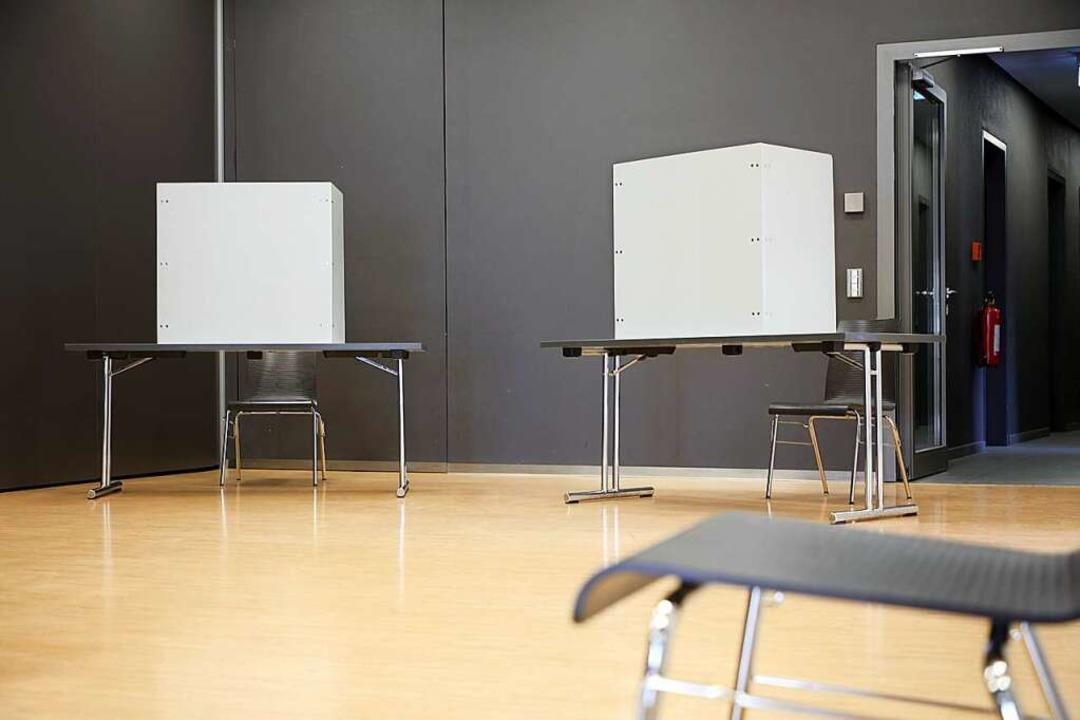 Wenig los im Wahllokal: Nur 26,3 Proze...Wahlberechtigten gaben ihre Stimme ab.  | Foto: Christoph Breithaupt