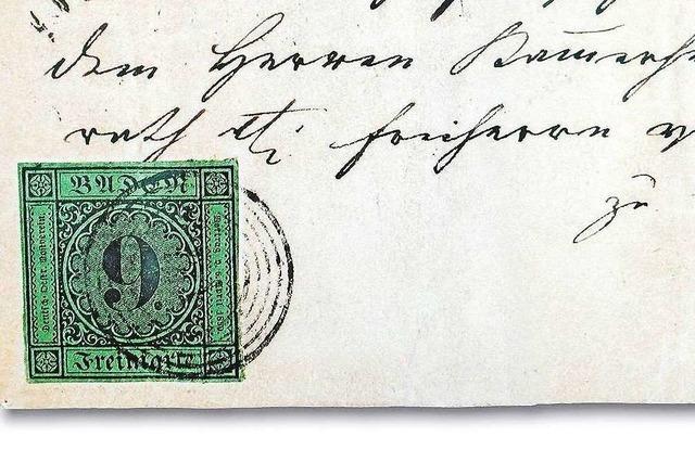 In Ettenheim abgestempelte Briefmarke wechselt für 1,26 Millionen Euro den Besitzer