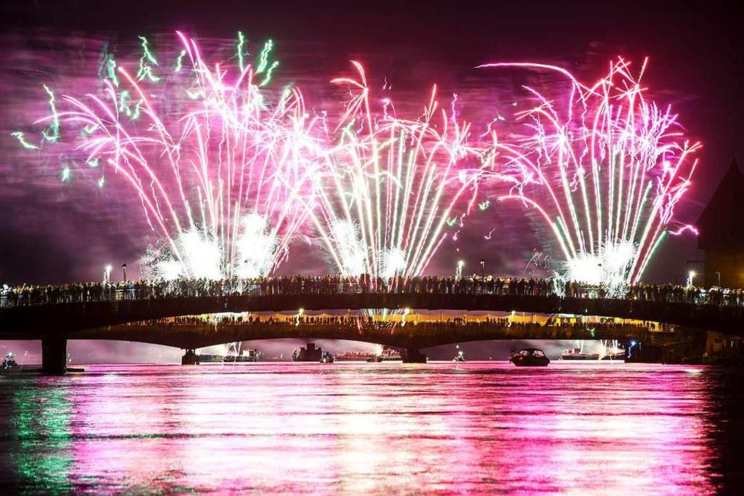 Feuerwerk beim Seenachtfest in Konstanz 2017  | Foto: Felix Kästle (dpa)