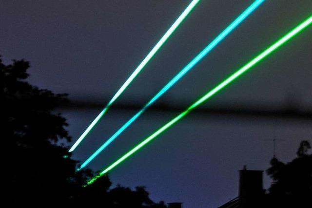 Fraunhofer-Gesellschaft schickt eine Woche Laserstrahlen über Freiburg