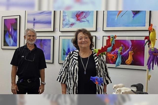Zwei Künstler nähern sich in drei Techniken einem Thema an