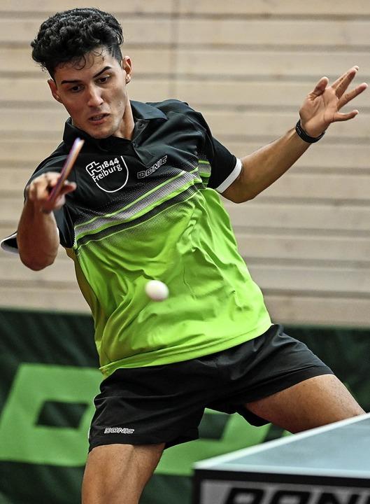 Gewann seine Einzelspiele souverän: Carlos Hernandez.   | Foto: Patrick Seeger
