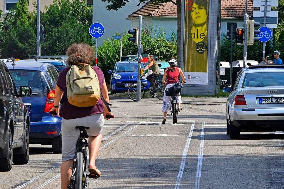 Der Unfall ereignete sich auf der Merzhauser Straße (Symbolbild)  | Foto: Michael Bamberger