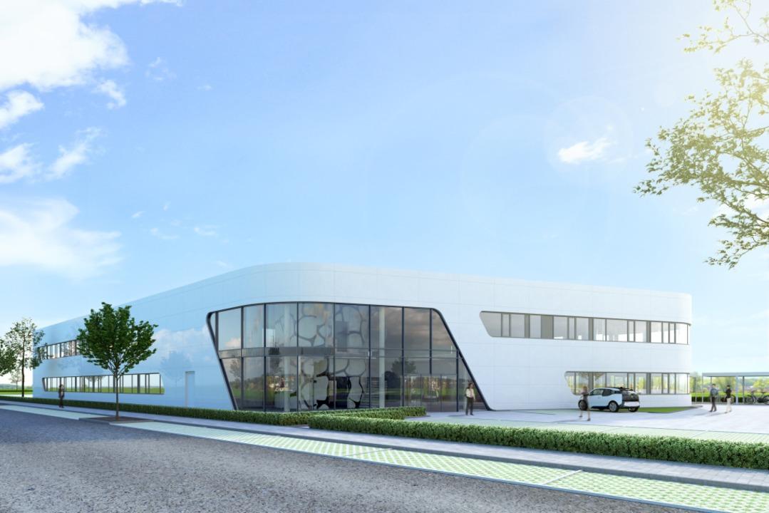 So soll die Zentrale im Gewerbegebiet Haid aussehen.    Foto: Vollack