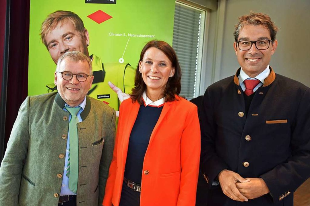 Meinrad Joos, Rita Schwarzelühr-Sutter...ndre Baumann standen Rede und Antwort.  | Foto: Thomas Biniossek
