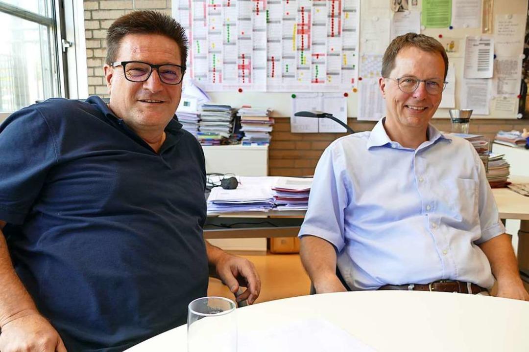 Direktor Volker Habermaier und der ste... auf eine klare  Ausrichtung des GBGs.  | Foto: Ingrid Böhm-Jacob