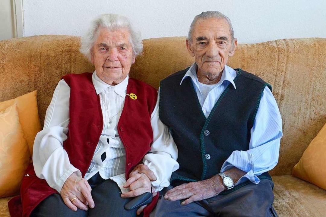 Margarete und Horst Schuwald sind seit 70 Jahren ein Team.  | Foto: Ingo Schneider