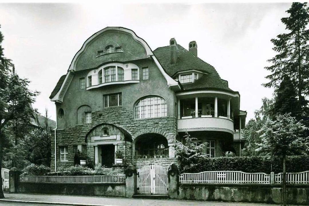 Die Maria-Theresia-Straße 10, mit ihre...2 durch Ludwig Merckle erworben wurde.  | Foto: Archiv Manfred Gallo
