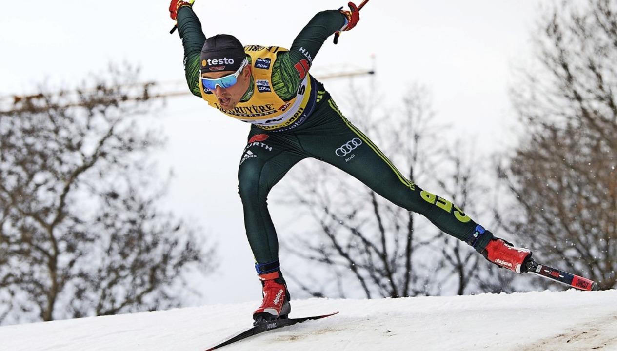 Überflieger: Janosch Brugger aus Lenzk... Weltcup-Langläufer der WSG Schluchsee  | Foto: Sebastian Kahnert