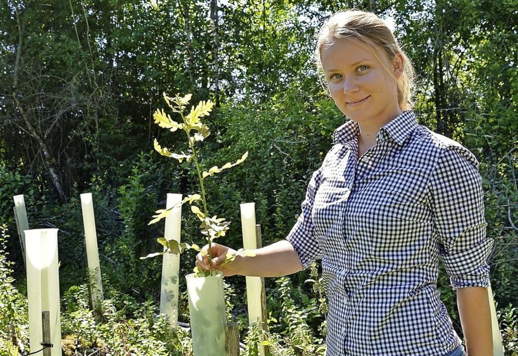 Virginia Lorek, Leiterin der Betriebss... regionalen Waldes  bestens im Blick.   | Foto: Manfred Beathalter