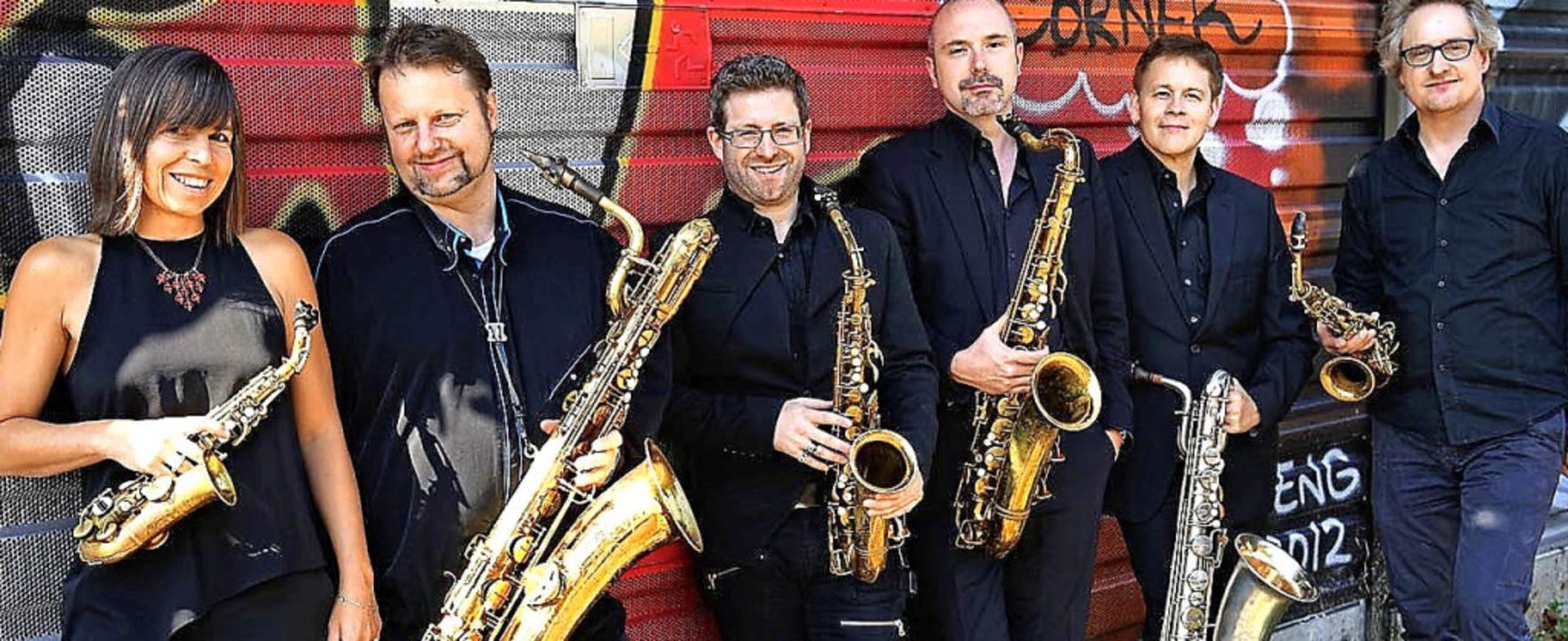 Das Raschèr Saxophone Quartet – hier in Sextett-Besetzung  | Foto: Roger Hanschel