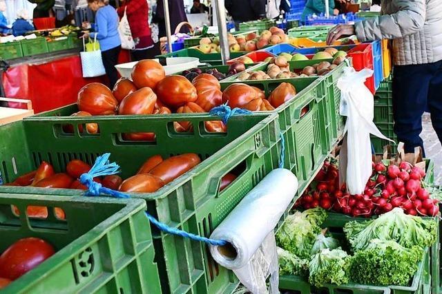 Der Wochenmarkt in Lörrach soll plastikfrei werden