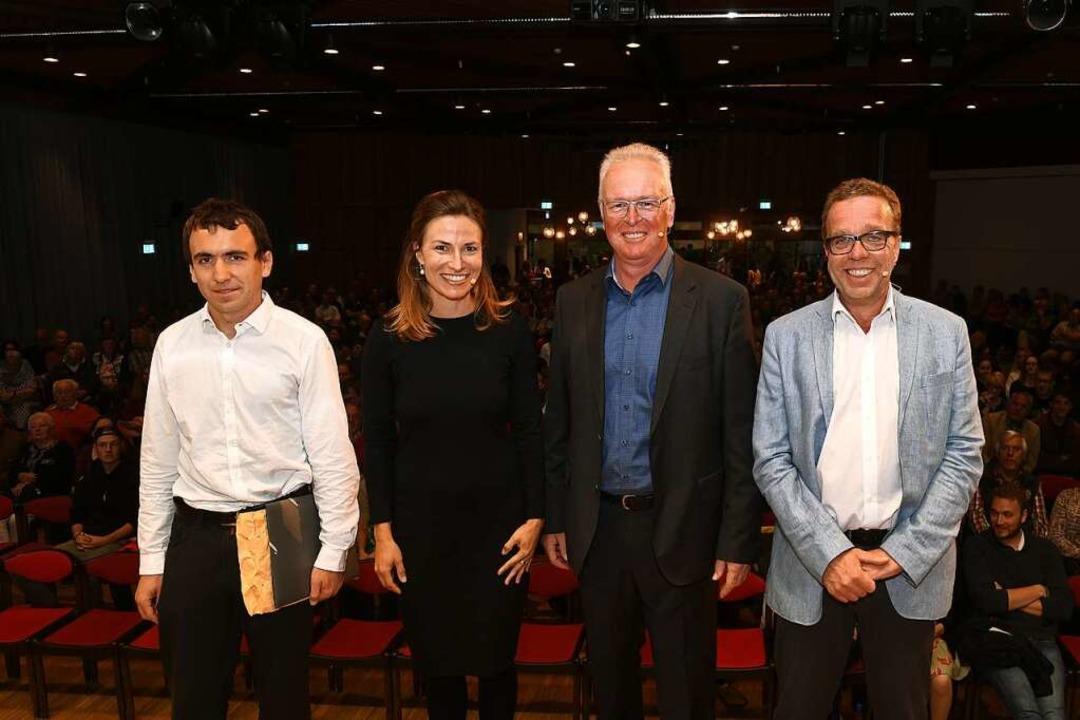 Die Kandidaten (von rechts)  Michael S...ike Folkerts und Samuel Speitelsbach    | Foto: Wolfgang Scheu