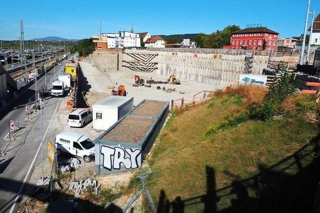 Der Bau der Dreiländergalerie in Weil am Rhein dauert ein Jahr länger