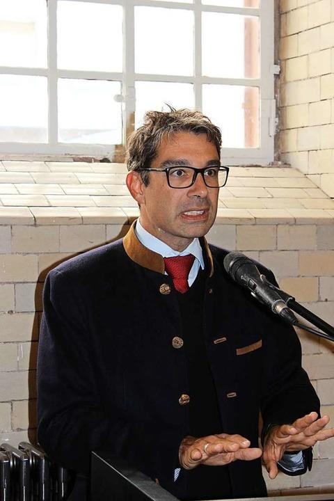 Staatssekretär Andre Baumann kam anste...of in Gutach in Augenschein zu nehmen.  | Foto: Karin Heiß
