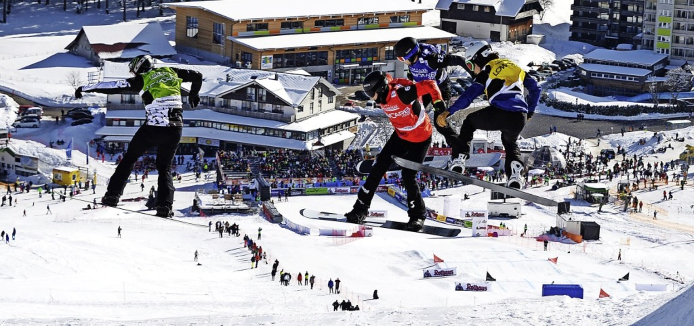 Ob es weiter fliegende Snowboardcrosse... ist noch nicht abschließend geklärt.     Foto: Patrick Seeger