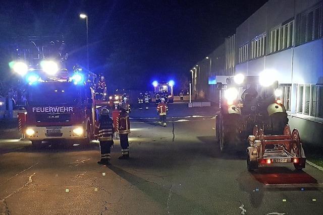 Gemeinsame Übung zweier Feuerwehren