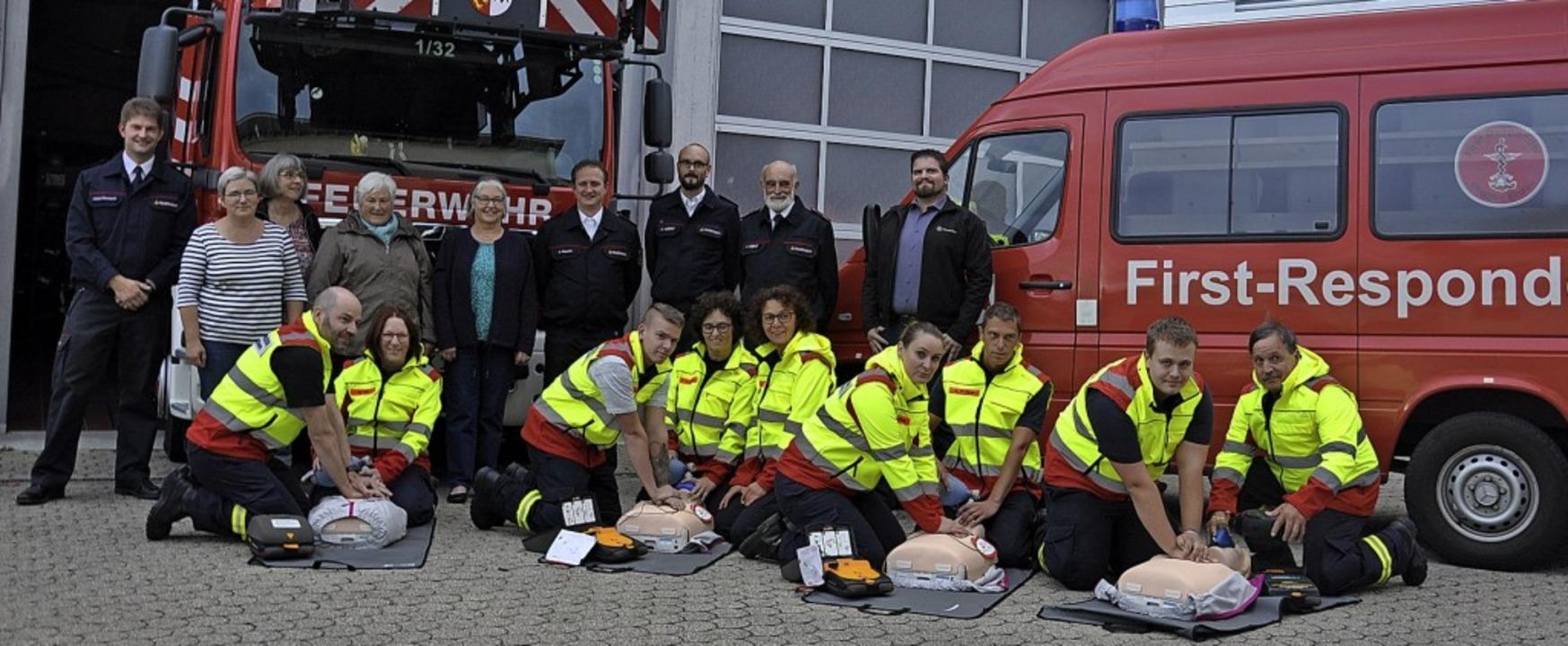 Die First Responder  Efringen-Kirchen ...ionspuppen und Defibrillationstrainer.  | Foto: Jutta Schütz