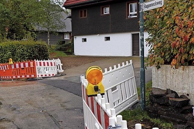 Hindernis für den Autoverkehr