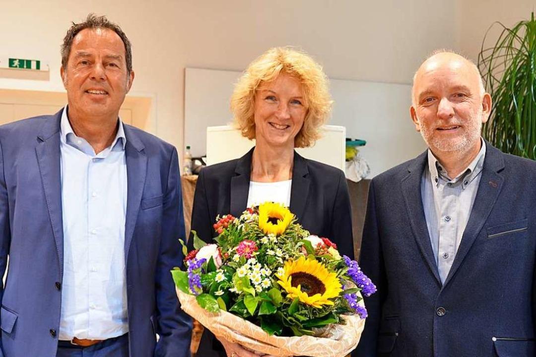 Die gleichen Köpfe, vertauschte Rollen...iela Meier und Axel Moick (von links).  | Foto: Moritz Lehmann