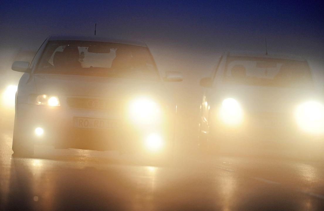 Bei Nebel ist es wichtig, dass die Bel...20;. Für Autofahrer ist sie kostenlos.    Foto: Tobias Hase