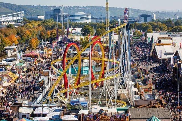 Volksfest Cannstatter Wasen wird eröffnet