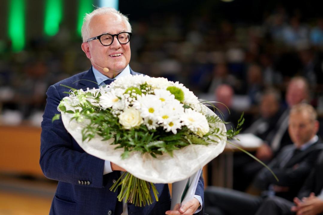 Fritz Keller ist neuer Chef des DFB.  | Foto: Simon Hofmann (dpa)