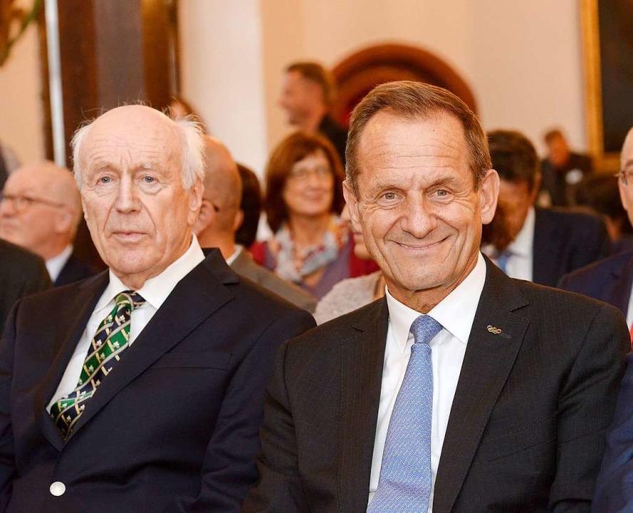 Der Präsident des Deutschen Olympische...bert Nothhelfer  zum Vereinsjubiläum.   | Foto: Ingo Schneider