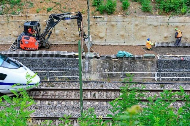 Hang-Sicherung an der Rheintalstrecke dauert schon doppelt so lange wie geplant