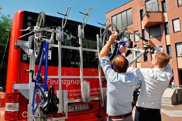Nur wenige Pendler nutzen den Radbus im Kreis Lörrach mit einem Heckträger