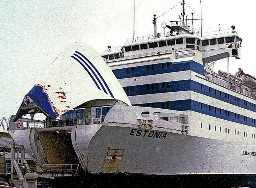 Die Estonia in einem Hafen  | Foto: Li Samuelson (dpa)