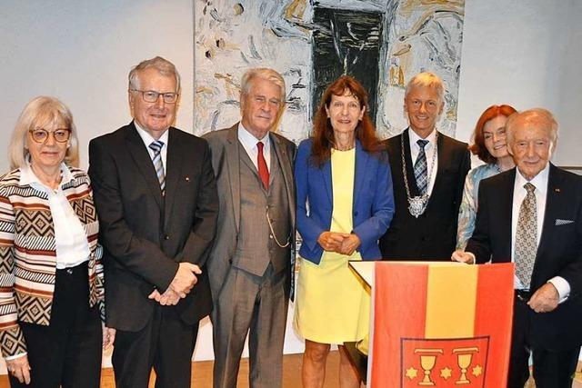 Staufen feiert seinen Alt-Bürgermeister Karl-Eugen Graf von Hohenthal