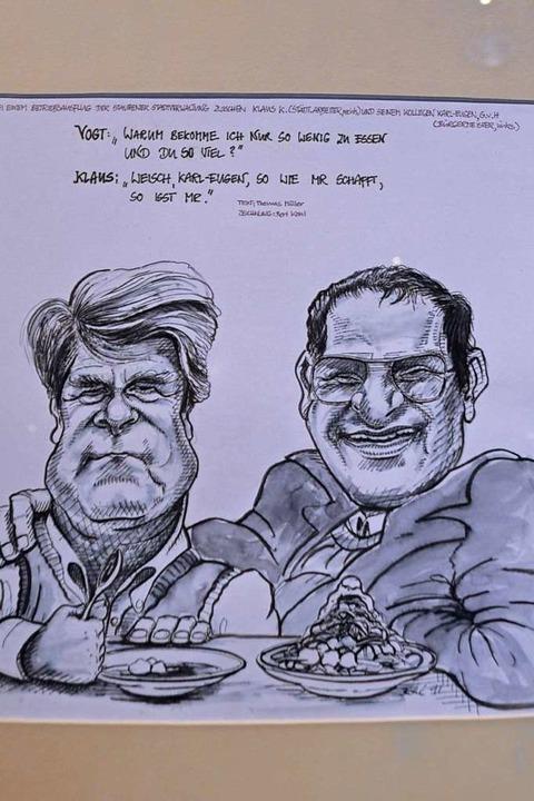 Karikatur von Bert Kohl  | Foto: Rainer Ruther