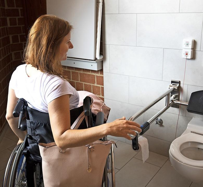 Sind die Toiletten im Kurhaus barriere...esteten die Schüler in Bad Bellingen.   | Foto: Bade- und Kurverwaltung Bad Bellingen