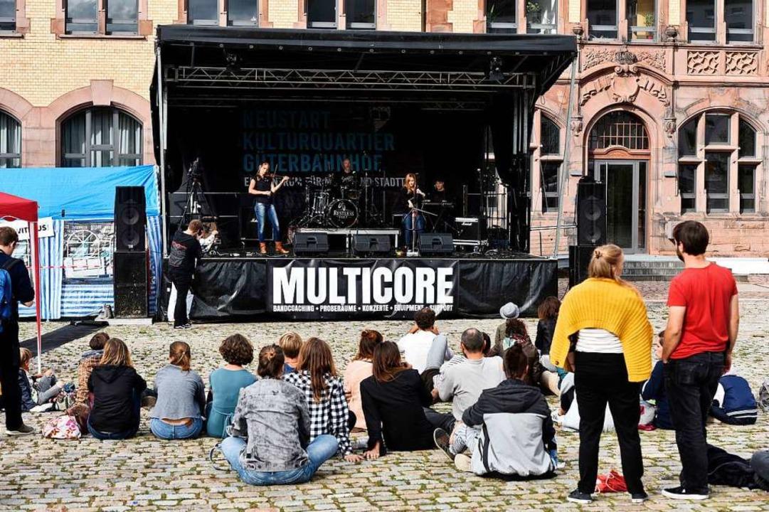 Der Verein der Musiker forderte beim K...Die Planung geht Multicore zu langsam.  | Foto: Thomas Kunz
