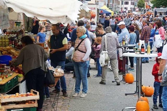 Viel Leben in der Stadt beim Kenzinger Herbst