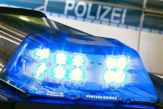 Polizeieinsatz mit starken Einsatzkräften in Zell im Wiesental