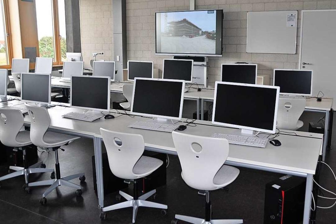 So sieht der neue Computer-Arbeitsraum aus    Foto: Rainer Ruther