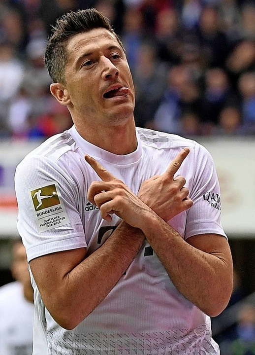Kann  Robert Lewandowski heute seinen extravaganten Torjubel zeigen?     Foto: INA FASSBENDER (AFP)