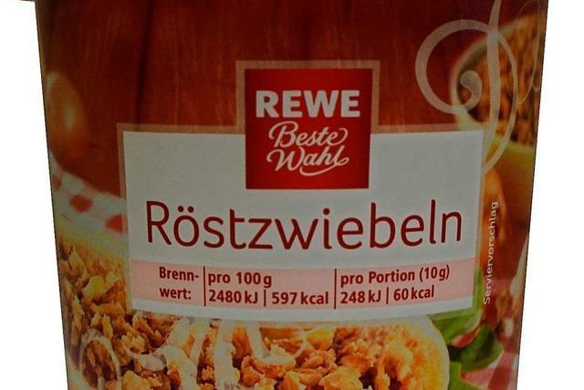 Hersteller ruft Röstzwiebeln bei Rewe wegen möglicher Metallstücke zurück