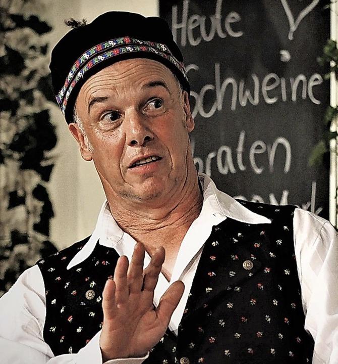 Tolle Mimik: Ralf Wilhelm als Wirt  | Foto: Susanne Gilg