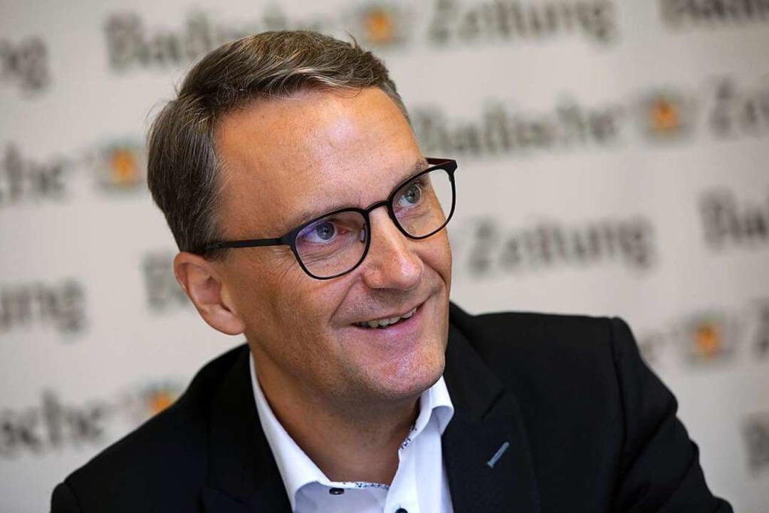 Der Lahrer OB-Kandidat Markus Ibert  | Foto: Christoph Breithaupt
