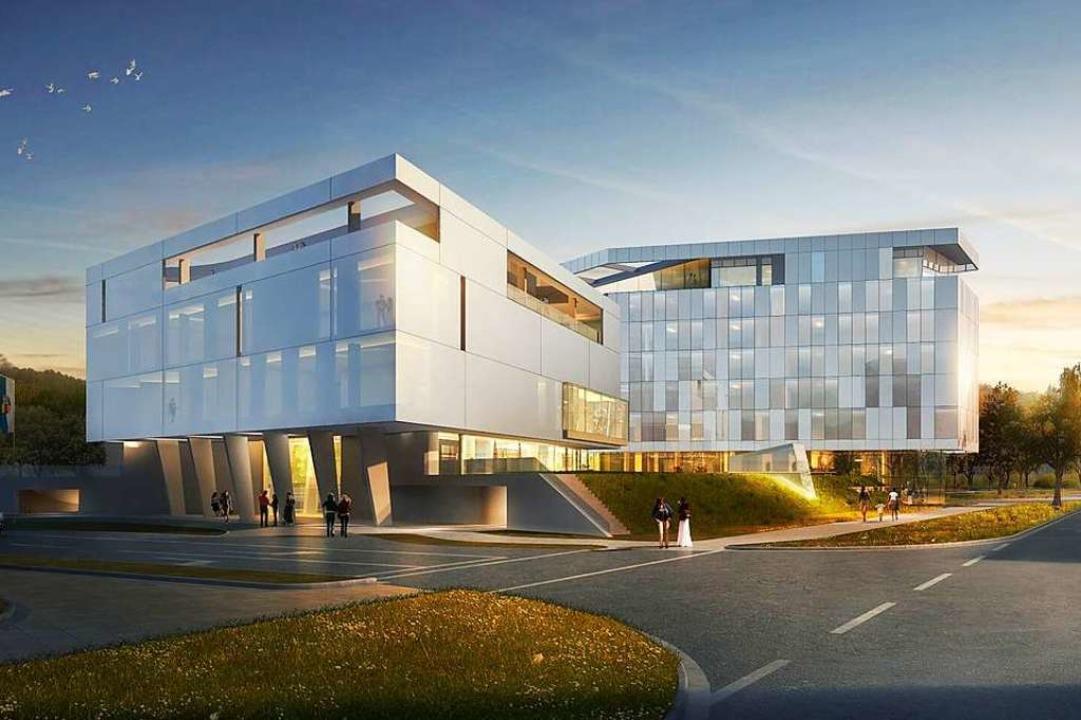 Der Hotelkomplex nahe der Arena würde den  Ortseingang prägen.  | Foto: Archimedialab Ltd.