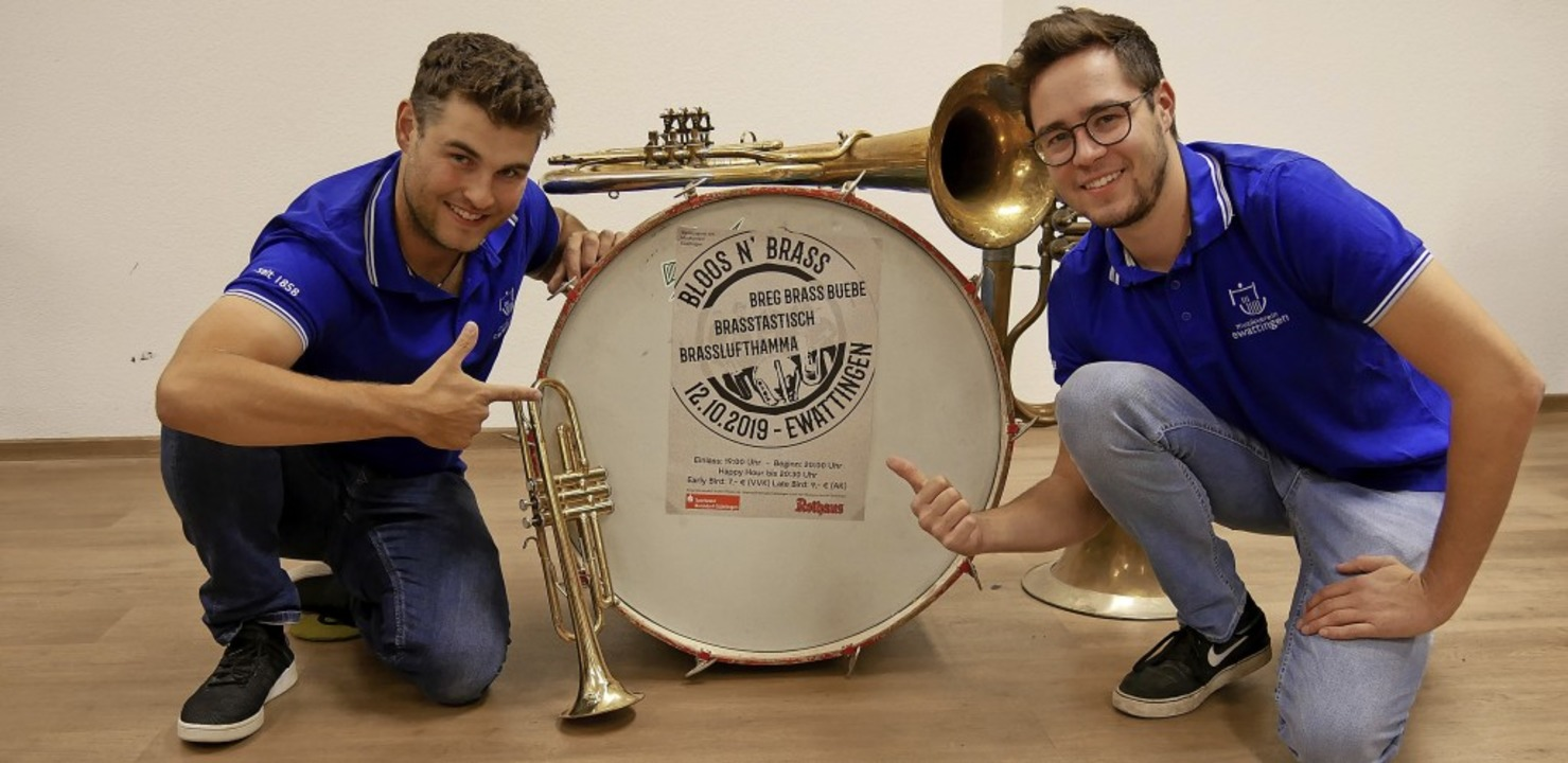 Sie freuen sich auf die Veranstaltung ...Beringer (links) und Joshua Dornfeld.   | Foto: Günter Nosbüsch