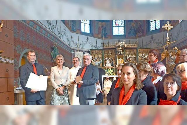 Hohe Ehre für den Tunsler Kirchenchor