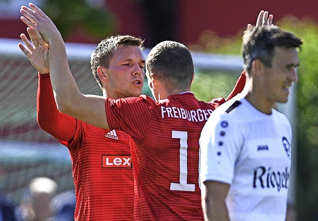 Nicht zu stoppen mit sieben Toren in e...rten FC Teningen (Thorsten Sillmann).   | Foto: Patrick Seeger